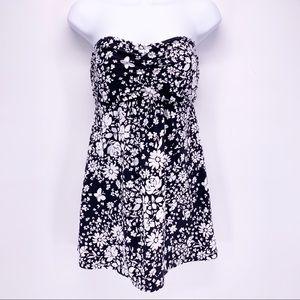 Beach House Strapless Floral Swimsuit Dress Sz 12